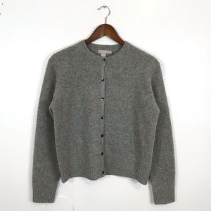 J crew lamb wool button down gray cardigan